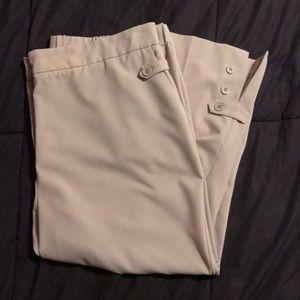 Susan Graver Chelsea Stretch Capris Tan Pants 1X